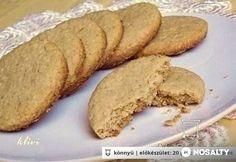 Zabfalatok házilag Healthy Sweets, Healthy Recipes, Biscotti, Banana Bread, Vegetarian, Homemade, Snacks, Cookies, Baking