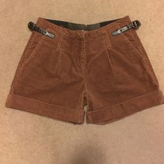 Brown Corduroy Gianni Bini Shorts Super cute brown corduroy high waisted Gianni Bini shorts with buckle detail on sides. Size 25, never been worn! Gianni Bini Shorts