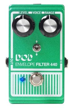 DOD 440 Envelope Filter Pedal - Get funky with this true-bypass envelope filter! Reacting to your pick attack, this pedal can make the filter go up or down via the adjustable toggle switch.