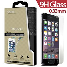 iPhone 6 4.7 inch screen protector iCarez® [ Tempered Glass ] Highest Quality Premium Anti-Scratch Bubble-free Reduce Fingerprint No Rainbow Washable Screen Protector Easy Install Product [1-Pack,0.33mm] – Retail Packaging 2014