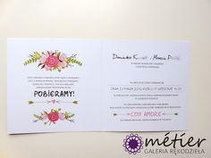 Zaproszenia ślubne www.metier.pl