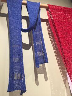 """<i><a href=""""http://www.ravelry.com/patterns/library/ss15--tier"""">Tier</a></i>scarf in Shibui <a href=""""http://threebagsfull.ca/yarn/shibui-twig/"""">Twig</a>"""