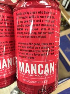 Needlessly gendered wine-in-a-can. A pretty straightforward example of androcentric, femininity-hating marketing to men.