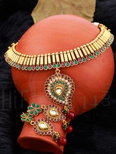 Necklace Set with Gold Plated Traditional Design