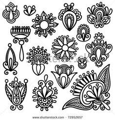 bloemen tekeningen zwart wit - Google zoeken