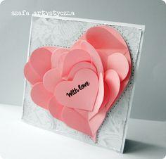 Kartka z okazji Walentynek / Card for Valentine's Day