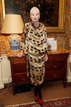 Vivienne Westwood at the launch of her autobiography, Vivienne Westwood, by Vivienne Westwood and Ian Kelly, at Marks Club, London.