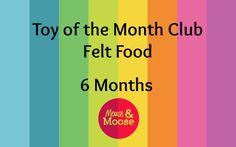 Toy of the Month Club - Felt Food - 6 months.  100% Wool felt food, vegetables, fruit, snacks, treats, breakfast items
