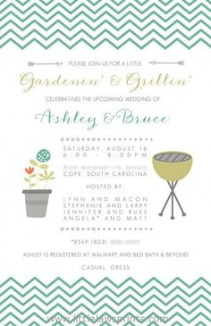 Gardening and Grilling Bridal Shower by LittleLawsPrints on Etsy, $25.95