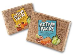 active packs, kids lunch packaging by Coho Creative Kids Packaging, Packaging Stickers, Cardboard Packaging, Food Packaging Design, Bottle Packaging, Packaging Design Inspiration, Coffee Packaging, Inspire Me Home Decor, Chocolate Packaging