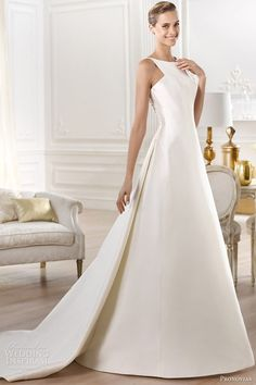 pronovias bridal atelier 2014 yelibeth wedding dress, I love the beautiful, elegant simplicity of this dress