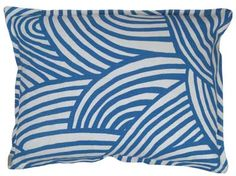 New limited edition Hable Construction pillows made in Athens, GA! 14x18 azul waterfalls oyster linen pillow
