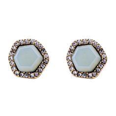 Chicnova Fashion Pentagon Geometric Pattern Earrings (€2,51) ❤ liked on Polyvore featuring jewelry, earrings, geometric earrings und geometric jewelry