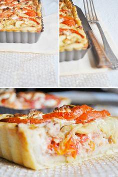 Plat # Salé - Tarte courgettes, tomates et thon