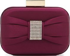 •Website: http://www.cuteandstylishbags.com/portfolio/badgley-mischka-wine-marcell-satin-bow-minaudiere-evening-clutch/ •Bag: Badgley Mischka Wine Marcell Satin Bow Minaudiere Evening Clutch