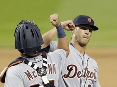 "Game 1 - Apr 5 - Detroit 8-7 Miami. B11. Detroit Tigers relief pitcher Shane Greene is congratulated by catcher James McCann after the Tigers defeated the Miami Marlins 8-7 in 11 innings. [Alan Diaz, AP] Ausmus said Shane Greene isn't just holding a rotation spot until Daniel Norris gets healthy. ""If he pitches well, he'll stay there."""