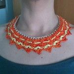 Crochet chain necklace Collana uncinetto