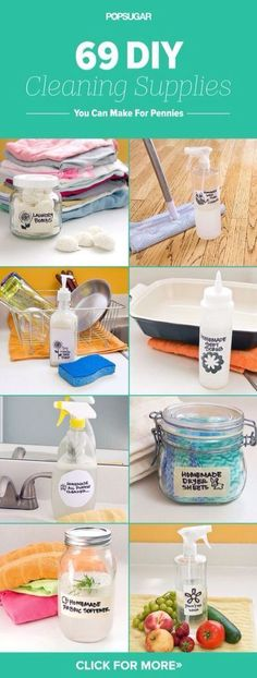 'Make These 69 DIY Cleaning Products For Pennies...!' (via POPSUGAR Smart Living)