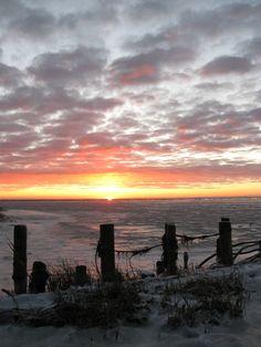 Icy water on Rømø #rømø