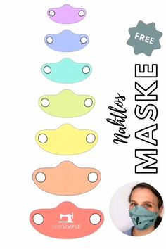 Diy Sewing Projects, Sewing Hacks, Sewing Tutorials, Techniques Couture, Sewing Techniques, Easy Face Masks, Diy Face Mask, Sewing Patterns Free, Free Sewing