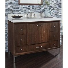 Photo On Fairmont Designs Seascape Vanity Whiskey
