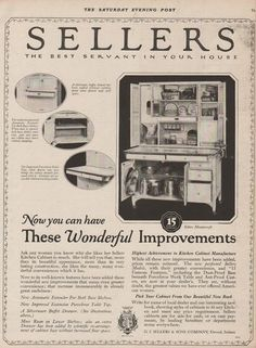 Sellers Kitchen Cabinets Vintage details about 1924 sellers kitchen cabinets ad / the best servant