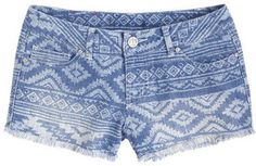 ShopStyle: Native Print Denim Short