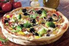 Get Flat Abs with-Veggie tortilla pizza Pizza Sin Gluten, Pizza Legume, 15 Minute Dinners, Tortilla Pizza, Flat Belly Foods, Pizza Ingredients, Pasta, Pesto Sauce, Arabic Food