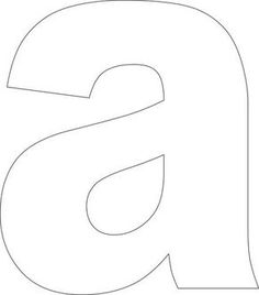 the letter a size easy alphabet printables amp lower 2858