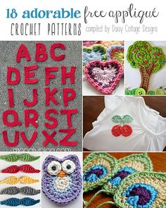 18 Free Applique #Crochet Patterns - from Daisy Cottage Designs