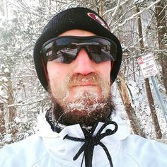Our Performance Eyewear is available in the shop Photo of the Day: Run warrior @bhudgnasty keeps the harsh winter air out his eyes... not just the rays!! Looks like his beard didn't fare so well! Brandon is an athlete we are very proud to support please do find out more about Brandon and what he stands for @bhudgnasty