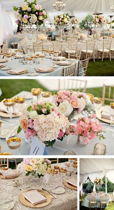 Pretty pastels with gold accents
