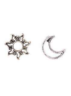 """<p><span id=""""webDesc"""">Wake up and go to sleep in these earrings. A silver tone moon and gold tone sun are both constructed with a cutout design.</span><span id=""""webDescSpan""""></span></p>  <ul> <li>Base metal</li> <li>Imported</li> </ul>"""