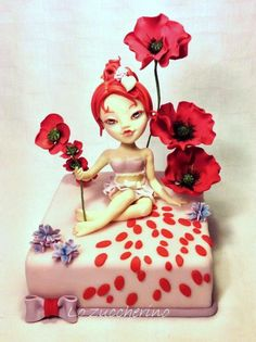 What about a dip through poppies? - Cake by Rossella Curti