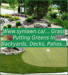 www.synlawn.ca/... grass putting greens in backyards, decks, patios as well as indoors are great for improving your golf score. | Diy Putting Green Backyard How To Build | Diy Putting Green | Putting Green Design Ideas | Backyard Putting Green Design. At Last! An Easy To Install, Realistic, Low Maintenance & Affordable Backyard Golf Green For Any Serious Golfer #golf #kontraktor #golfdriver #Things I love Track Drill, Backyard Putting Green, Golf Score, Golf Green, Putting Tips, Club Face, Golf Drivers, Confidence Building, Backyards