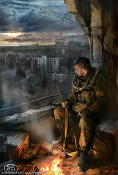 """Post Apocalypse / Dystopia - """"Call of Pripyat"""" Apocalypse World, Apocalypse Art, Apocalypse Survival, Metro 2033, Sci Fi Fantasy, Fantasy World, Post Apocalyptic Art, Military Art, End Of The World"""