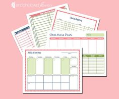 Home Managment  Printables  Menu Planner by andshelovedflowers