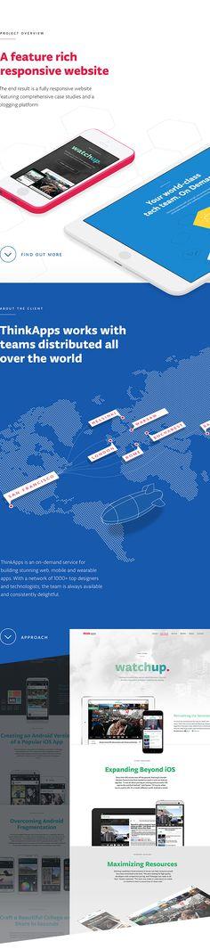 ThinkApps Website Case Study on Behance