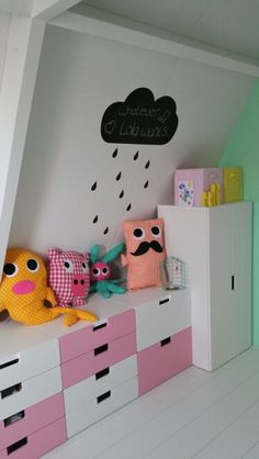 Girls room #stuva #ikea #ferm #black and white
