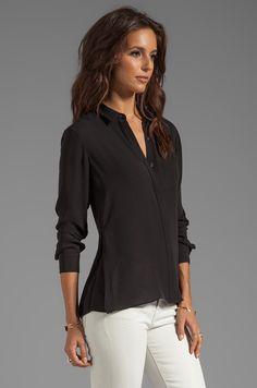 003dd2c685dcb9 Fine Black Silk Blouse   Lovely Black Silk Blouse