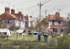 On The Allotment Watercolor Art, Gallery, Artist, Allotment, Watercolours, Painting, Watercolor Painting, Roof Rack, Artists