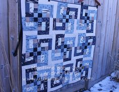Cute boy quilt - free pattern maritime baby quilt by Millions of Thoughts, @ModaFabrics