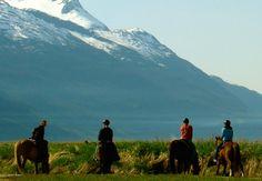 Photo of horseback riding in skagway