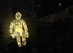 Glowing Man , Light Festival, NYC, Brooklyn
