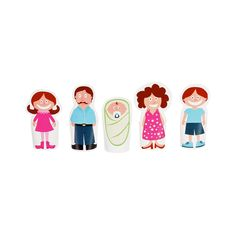 Finger Family Paper Finger Puppets - DIY Craft Kit - Paper Toy - Daddy, Mommy, Sister, Brother and Baby, 2 Grandmothers and 2 Grandfathers