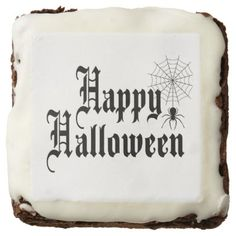 #Happy Halloween minimalist typography Brownie - #halloween #brownies #sweets #goodies