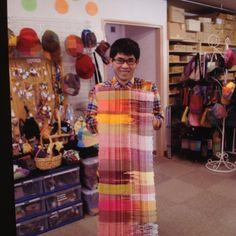 Kohsuke Sugano- SAORI weaver at Art SAORI in Japan