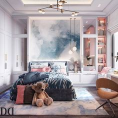 Room Design Bedroom, Girl Bedroom Designs, Kids Room Design, Home Room Design, Bedroom Modern, Bedroom Decor For Teen Girls, Bedroom Kids, Dressing Room Design, Deco Design