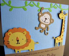 Safari Party Invitation Jungle Fun by ScrapYourStory on Etsy