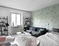 Studio apartment by Historiska Hem - FLOORPLAN gravityhomeblog.com - instagram - pinterest - bloglovin
